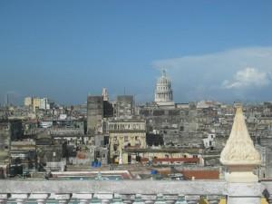 Ausblick von der Dachterrasse der Camera Obscura