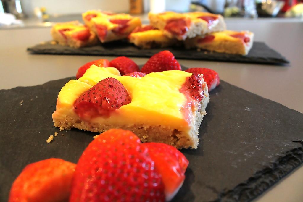 Pudding Obst Kuchen Vom Blech Elas Universe