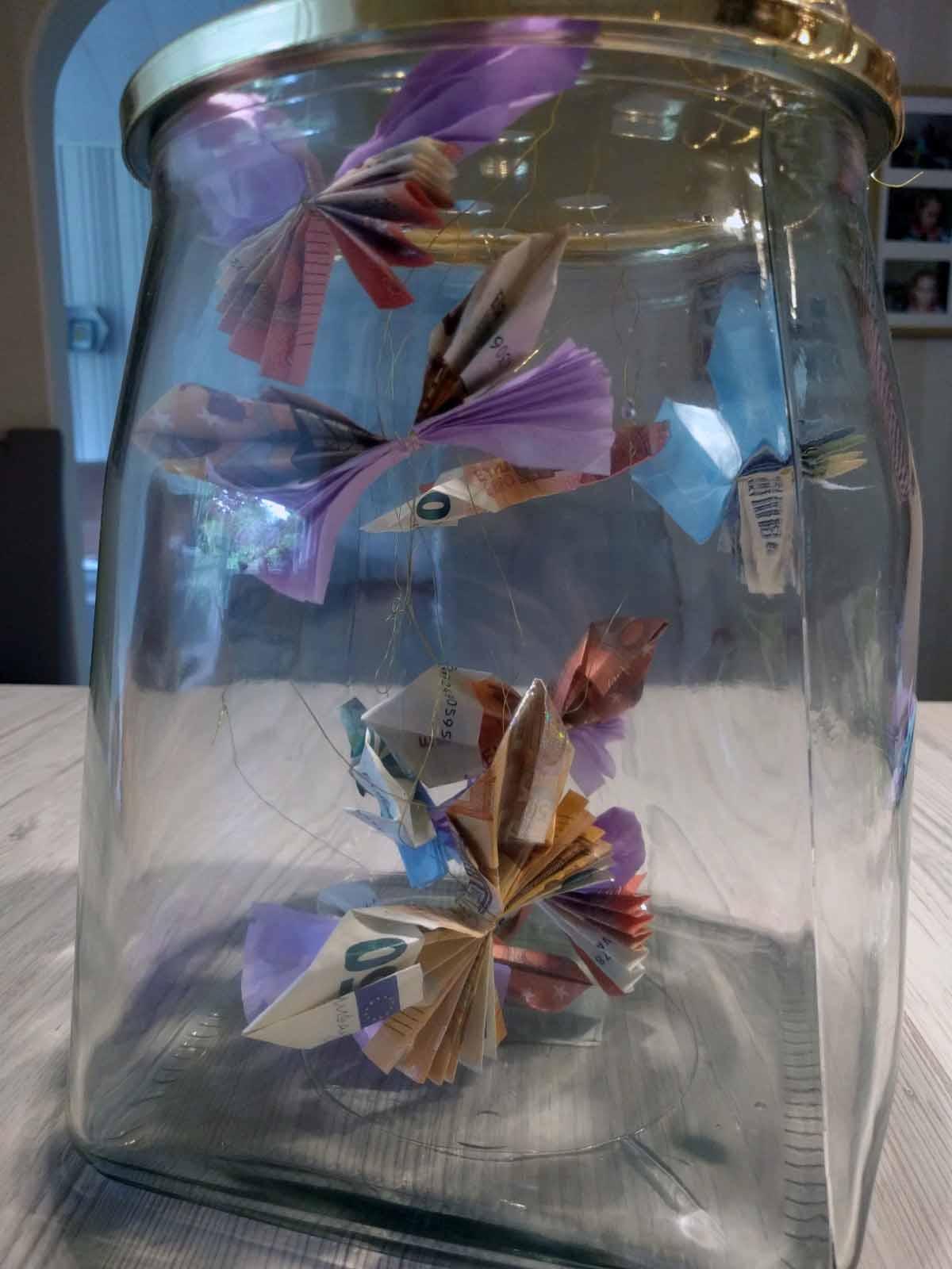 Bunte Schmetterlinge Als Geldgeschenk Elas Universe